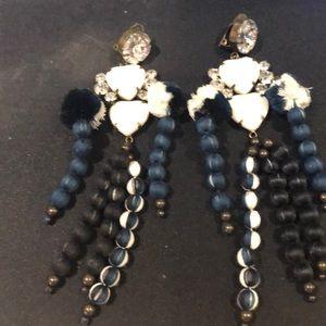 Tribal long earrings